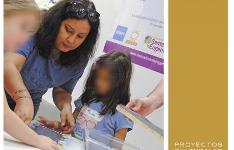 Taller de materiales reciclados en familia en el Mercado de Sta. Eugenia (Madrid)   Proyectos Culturales