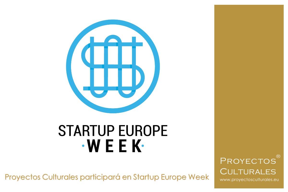 Proyectos Culturales participará en Startup Europe Week
